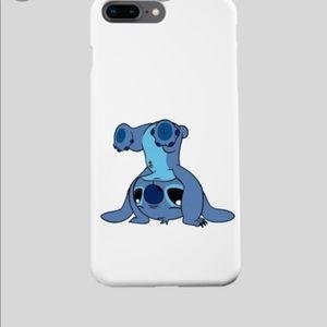 Cute stitch picture on white phone case